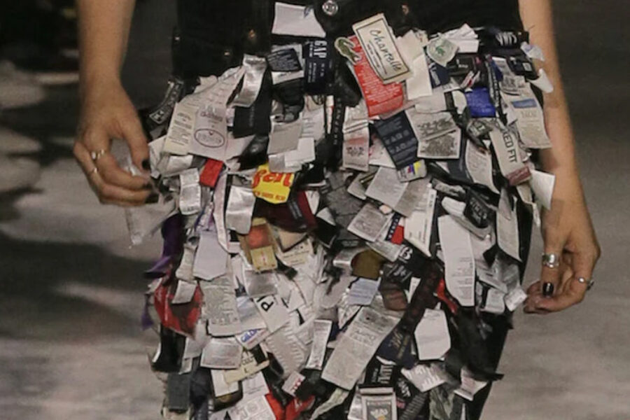 Haute couture fashion goes upcycling